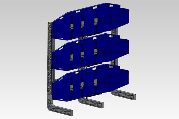Aero Medical - Stackable Units Folded
